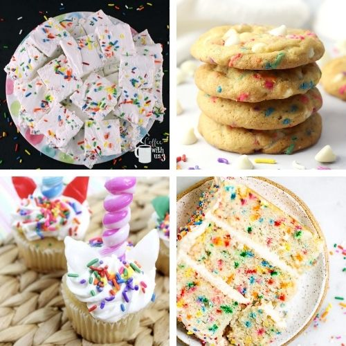 24 Fun Birthday Desserts- Make the next birthday you bake for even more special with some of these fun birthday dessert recipes! They're all so tasty! | #dessertRecipes #birthdayRecipes #birthdayDessert #cupcakeRecipes #ACultivatedNest