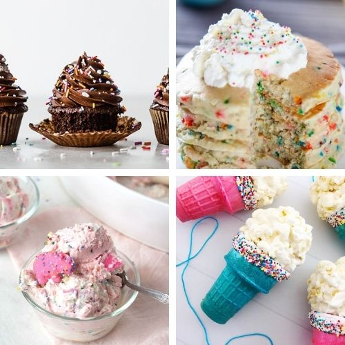 24 Colorful Birthday Desserts to Make- Make the next birthday you bake for even more special with some of these fun birthday dessert recipes! They're all so tasty! | #dessertRecipes #birthdayRecipes #birthdayDessert #cupcakeRecipes #ACultivatedNest