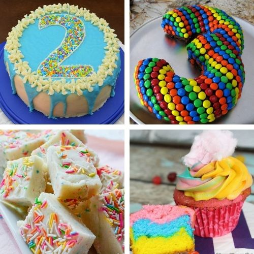 24 Colorful Birthday Recipes to Make- Make the next birthday you bake for even more special with some of these fun birthday dessert recipes! They're all so tasty! | #dessertRecipes #birthdayRecipes #birthdayDessert #cupcakeRecipes #ACultivatedNest