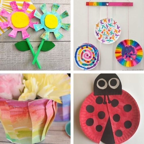 20 Cute Spring Paper Plate Crafts for Kids- Keep your kids busy on rainy days with these frugal and fun spring paper plate kids crafts! There are so many cute spring crafts for them to do! | #kidsCrafts #kidsActivities #paperPlateCraft #kidsActivity #ACultivatedNest