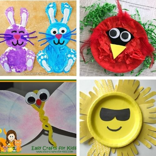 20 Cute Paper Plate Spring Kids Crafts- Keep your kids busy on rainy days with these frugal and fun spring paper plate kids crafts! There are so many cute spring crafts for them to do! | #kidsCrafts #kidsActivities #paperPlateCraft #kidsActivity #ACultivatedNest