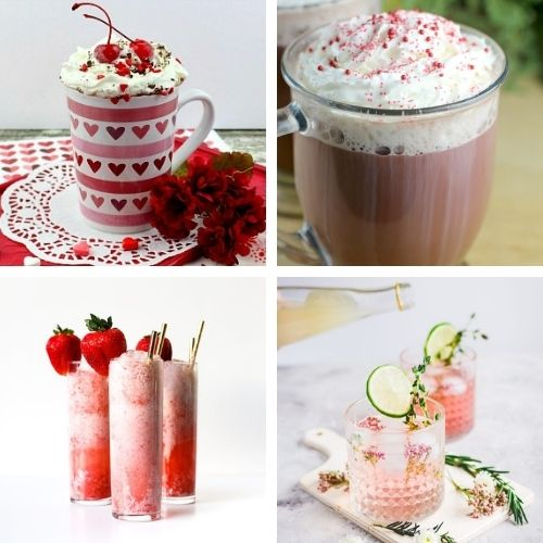 24 Delicious DIY Valentine's Drinks- These tasty homemade Valentine's Day drinks are a lovely way to make your romantic evening even more special! | #drinkRecipes #ValentinesDay #Valentines #homemadeDrinks #ACultivatedNest