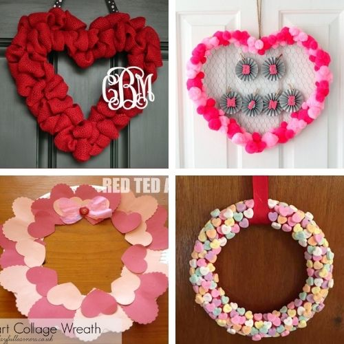 20 Easy Valentine's Day Wreath Crafts- This Valentine's Day, make your home beautiful on a budget with these easy DIY Valentine's Day wreaths projects! | #diyProject #DIY #ValentinesDay #diyWreaths #ACultivatedNest
