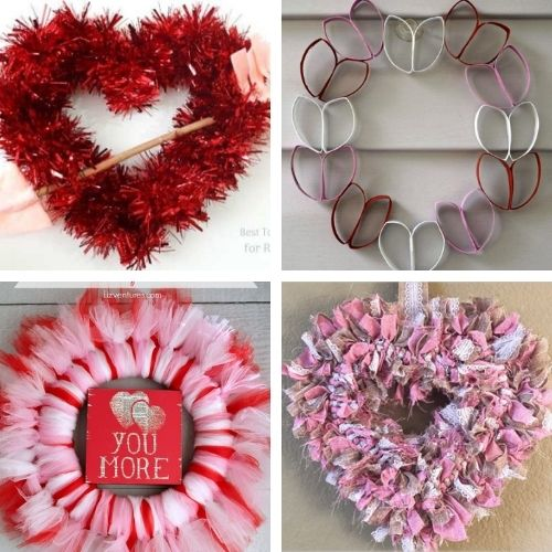 20 Easy Valentine's DIY Wreaths- This Valentine's Day, make your home beautiful on a budget with these easy DIY Valentine's Day wreaths projects! | #diyProject #DIY #ValentinesDay #diyWreaths #ACultivatedNest