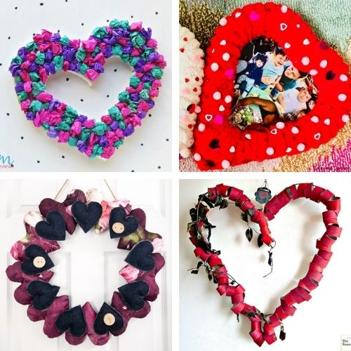 20 Easy Valentine's Day DIY Wreaths- This Valentine's Day, make your home beautiful on a budget with these easy DIY Valentine's Day wreaths projects! | #diyProject #DIY #ValentinesDay #diyWreaths #ACultivatedNest
