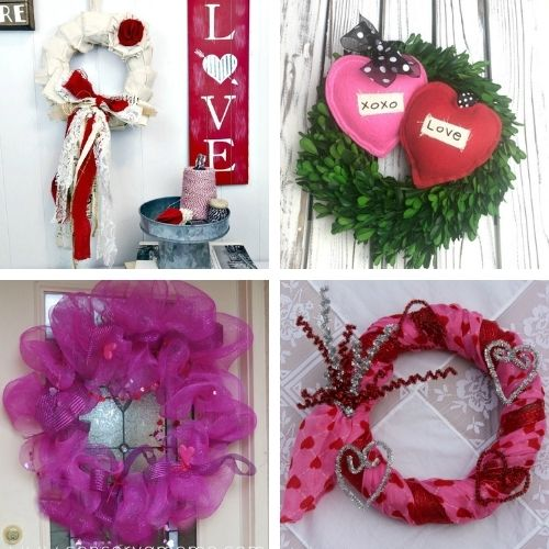 20 Easy Valentine's Day Wreath DIY Projects- This Valentine's Day, make your home beautiful on a budget with these easy DIY Valentine's Day wreaths projects! | #diyProject #DIY #ValentinesDay #diyWreaths #ACultivatedNest