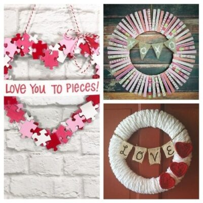 20 Easy DIY Valentine's Day Wreaths