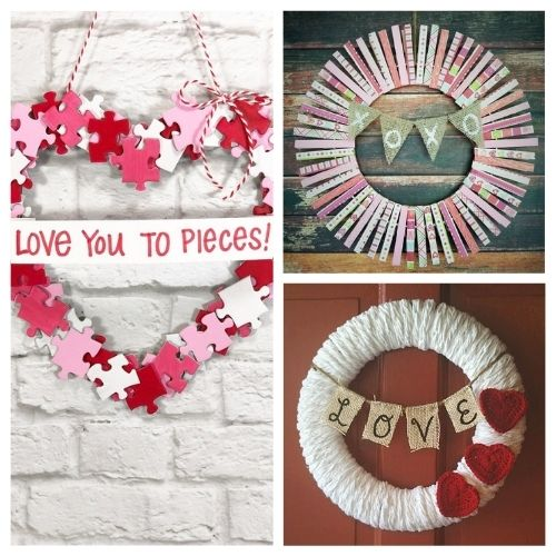 20 Easy DIY Valentine's Day Wreaths- This Valentine's Day, make your home beautiful on a budget with these easy DIY Valentine's Day wreaths projects! | #diyProject #DIY #ValentinesDay #diyWreaths #ACultivatedNest