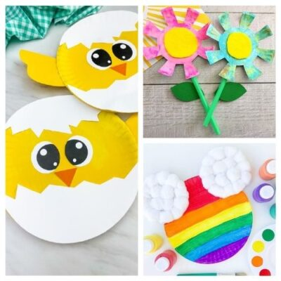 20 Cute Spring Paper Plate Kids Crafts