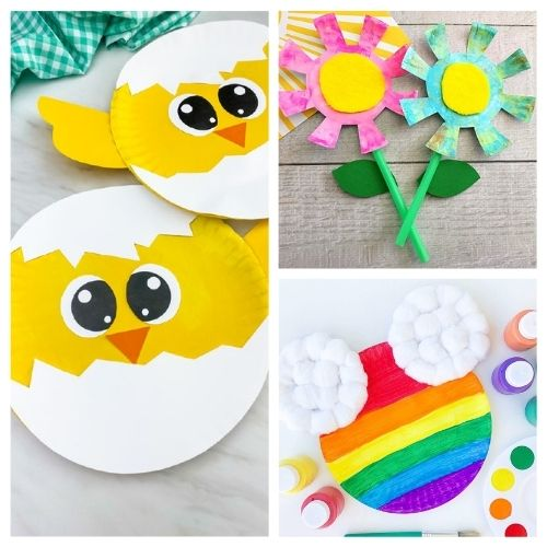 20 Cute Spring Paper Plate Kids Crafts- Keep your kids busy on rainy days with these frugal and fun spring paper plate kids crafts! There are so many cute spring crafts for them to do! | #kidsCrafts #kidsActivities #paperPlateCraft #kidsActivity #ACultivatedNest