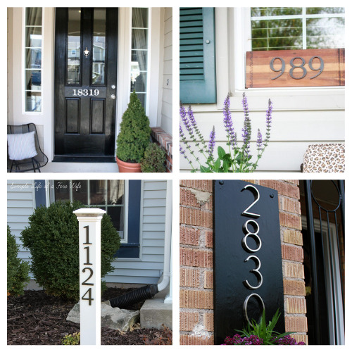 12 Gorgeous DIY House Numbers You Can Make- These DIY house number projects are great spring and summer projects to add curb appeal! And they're so easy to make, too! | outdoor décor DIYs, #DIY #houseNumbers #diyProjects #outdoorDIYs #ACultivatedNest