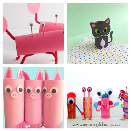 20 Fun Toilet Paper Roll Projects for Kids- Gather the children and spend the afternoon working on these 20 fun toilet paper roll kids crafts! Everyone is sure to have a great time! | frugal kids activities, #kidsCrafts #craftsForKids #kidsActivities #toiletPaperRollCrafts #ACultivatedNest