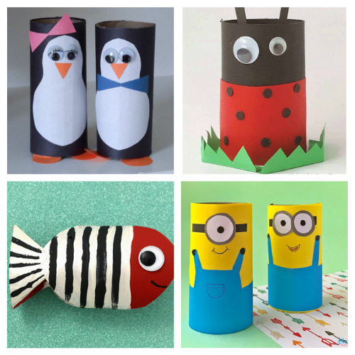 20 Fun Toilet Paper Roll Crafts for Kids- Gather the children and spend the afternoon working on these 20 fun toilet paper roll kids crafts! Everyone is sure to have a great time! | frugal kids activities, #kidsCrafts #craftsForKids #kidsActivities #toiletPaperRollCrafts #ACultivatedNest