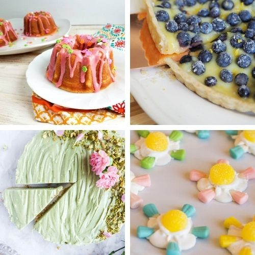 24 Cheery Spring Desserts- Bring the brightness of spring to your dinner table with these cheery spring dessert recipes! They're all so pretty, and delicious! | spring baking, brightly colored desserts, #dessertRecipes #desserts #springRecipes #springDesserts #ACultivatedNest