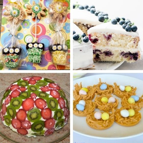 24 Cheery Homemade Spring Desserts- Bring the brightness of spring to your dinner table with these cheery spring dessert recipes! They're all so pretty, and delicious! | spring baking, brightly colored desserts, #dessertRecipes #desserts #springRecipes #springDesserts #ACultivatedNest