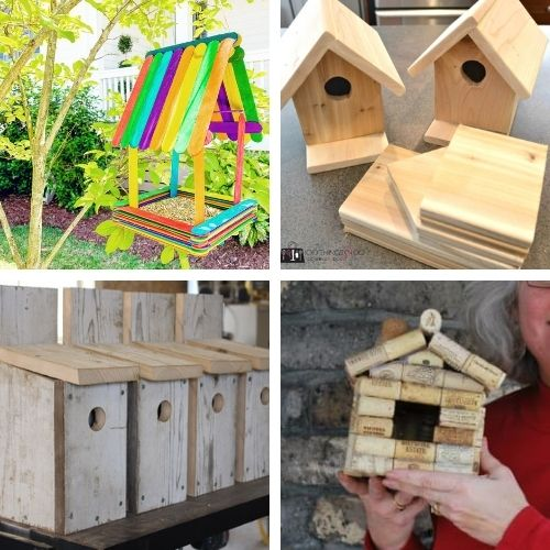 16 Homemade Birdhouse Projects- These DIY birdhouse projects are perfect for both decorating the inside of your home, and for attracting birds outside! | homemade birdhouse, #birdhouse #diyProjects #craft #kidsCrafts #ACultivatedNest