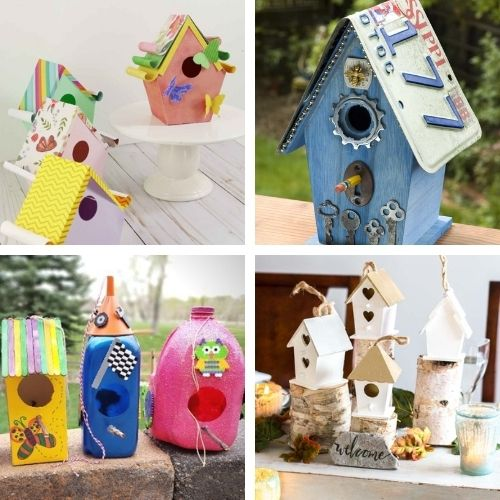16 Homemade Birdhouse Décor Projects- These DIY birdhouse projects are perfect for both decorating the inside of your home, and for attracting birds outside! | homemade birdhouse, #birdhouse #diyProjects #craft #kidsCrafts #ACultivatedNest