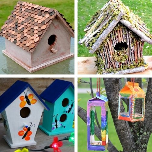16 Homemade Birdhouse Crafts- These DIY birdhouse projects are perfect for both decorating the inside of your home, and for attracting birds outside! | homemade birdhouse, #birdhouse #diyProjects #craft #kidsCrafts #ACultivatedNest