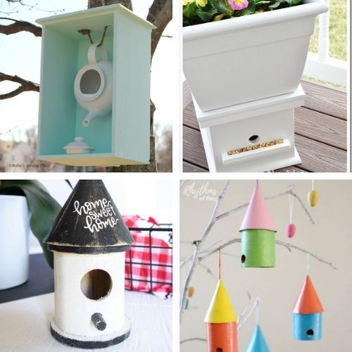 16 Homemade Birdhouse DIYs for Kids and Adults- These DIY birdhouse projects are perfect for both decorating the inside of your home, and for attracting birds outside! | homemade birdhouse, #birdhouse #diyProjects #craft #kidsCrafts #ACultivatedNest