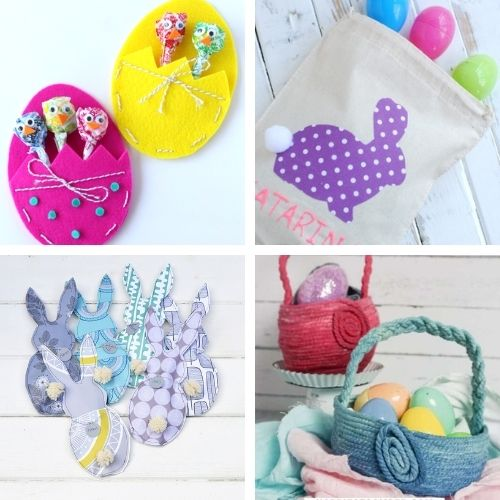 20 DIY Easter Baskets and DIY Easter Treat Bags- Make Easter even more special this year with some of these DIY Easter baskets and treat bags! There are so many cute possibilities! | homemade Easter baskets, how to make your own Easter treat bags, Easter crafts, Easter DIYs, #Easter #EasterBaskets #diyEaster #EasterTreatBags #ACultivatedNest