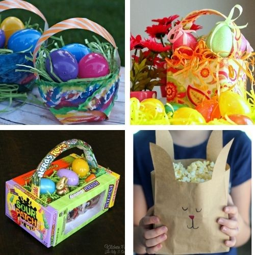 20 Easter Treat Bag DIYs and DIY Baskets- Make Easter even more special this year with some of these DIY Easter baskets and treat bags! There are so many cute possibilities! | homemade Easter baskets, how to make your own Easter treat bags, Easter crafts, Easter DIYs, #Easter #EasterBaskets #diyEaster #EasterTreatBags #ACultivatedNest