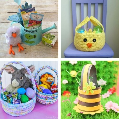 20 Easter Basket DIYs and Treat Bag Crafts- Make Easter even more special this year with some of these DIY Easter baskets and treat bags! There are so many cute possibilities! | homemade Easter baskets, how to make your own Easter treat bags, Easter crafts, Easter DIYs, #Easter #EasterBaskets #diyEaster #EasterTreatBags #ACultivatedNest