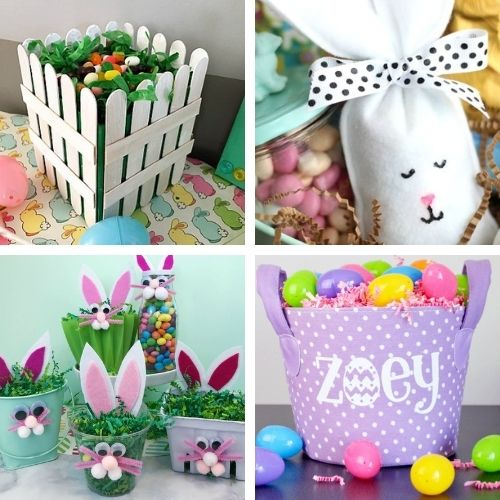20 Homemade Easter Baskets- Make Easter even more special this year with some of these DIY Easter baskets and treat bags! There are so many cute possibilities! | homemade Easter baskets, how to make your own Easter treat bags, Easter crafts, Easter DIYs, #Easter #EasterBaskets #diyEaster #EasterTreatBags #ACultivatedNest
