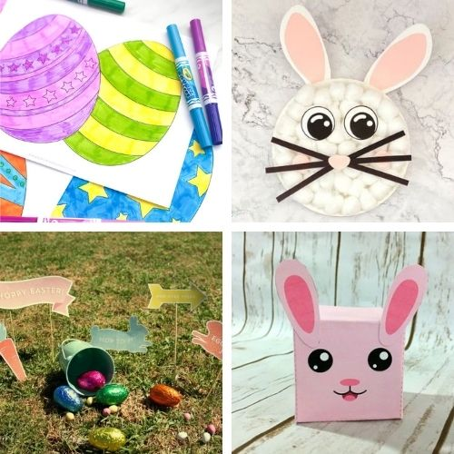 16 Cute Easter Free Printable Crafts- If you want to decorate for Easter on a budget, then you'll love these Easter free printables! Some fun kids' crafts are also included! | #Easter #freePrintables #kidsCrafts #printables #ACultivatedNest