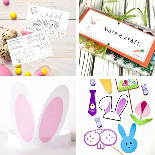 Easter Free Printable Décor- If you want to decorate for Easter on a budget, then you'll love these Easter free printables! Some fun kids' crafts are also included! | #Easter #freePrintables #kidsCrafts #printables #ACultivatedNest