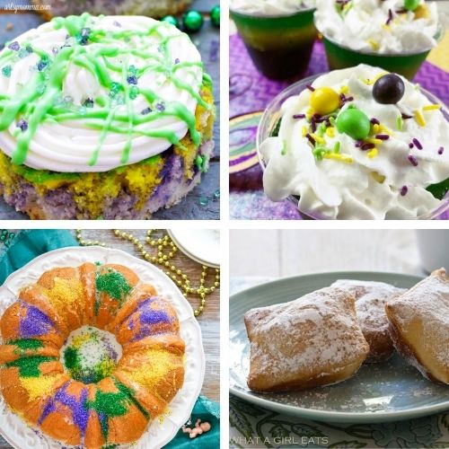 20 Festive Mardi Gras Desserts- Have a fun and festive Mardi Gras with some of these delicious Mardi Gras dessert recipes! They're so colorful, and so tasty! | #MardiGras #desserts #MardiGrasFood #MardiGrasRecipes #ACultivatedNest
