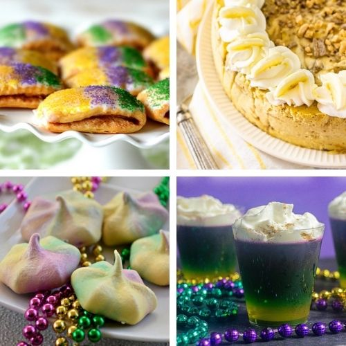 20 Festive Homemade Mardi Gras Foods- Have a fun and festive Mardi Gras with some of these delicious Mardi Gras dessert recipes! They're so colorful, and so tasty! | #MardiGras #desserts #MardiGrasFood #MardiGrasRecipes #ACultivatedNest