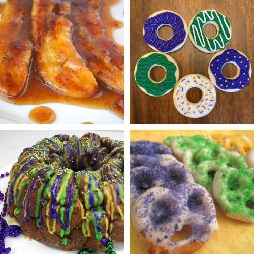 20 Festive Mardi Gras Recipes- Have a fun and festive Mardi Gras with some of these delicious Mardi Gras dessert recipes! They're so colorful, and so tasty! | #MardiGras #desserts #MardiGrasFood #MardiGrasRecipes #ACultivatedNest