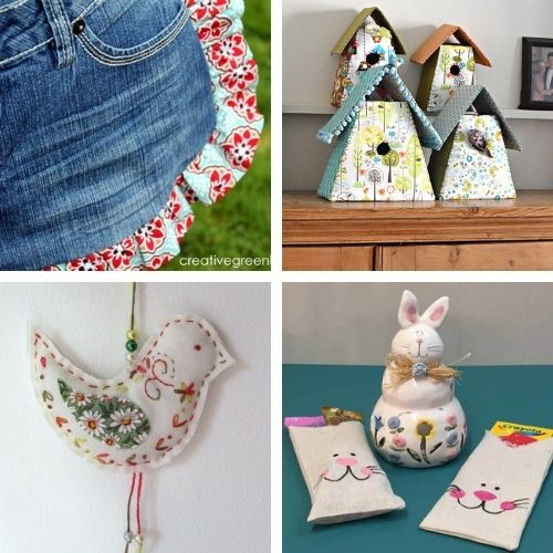 16 Fun Spring Sewing DIY Projects- This spring, use your sewing skills to make something fun! These spring sewing projects are perfect for beginners and more experienced sewers! | #sewingProjects #sewing #springSewing #springCrafts #ACultivatedNest