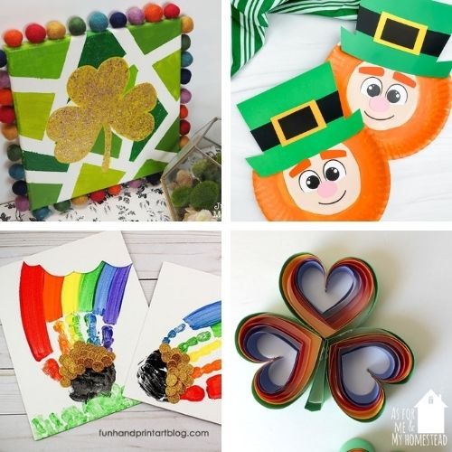 24 St. Patrick's Day Crafts for Kids and Adults- Decorate your home for St. Paddy's Day on a budget this year with these 24 St. Patrick's Day crafts for adults and kids! | #StPatricksDay #SaintPatricksDay #crafts #diyProjects #ACultivatedNest