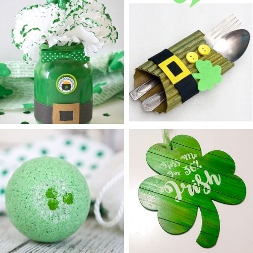 24 Homemade St. Patrick's Day Projects for Adults and Kids- Decorate your home for St. Paddy's Day on a budget this year with these 24 St. Patrick's Day crafts for adults and kids! | #StPatricksDay #SaintPatricksDay #crafts #diyProjects #ACultivatedNest