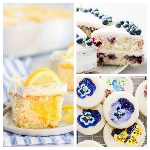 24 Cheery Spring Dessert Recipes- Bring the brightness of spring to your dinner table with these cheery spring dessert recipes! They're all so pretty, and delicious! | spring baking, brightly colored desserts, #dessertRecipes #desserts #springRecipes #springDesserts #ACultivatedNest