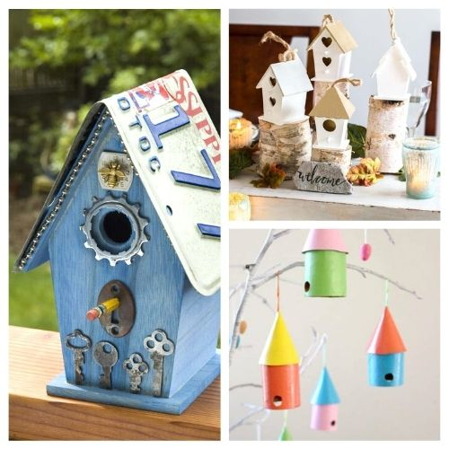 16 DIY Birdhouse Projects- These DIY birdhouse projects are perfect for both decorating the inside of your home, and for attracting birds outside! | homemade birdhouse, #birdhouse #diyProjects #craft #kidsCrafts #ACultivatedNest