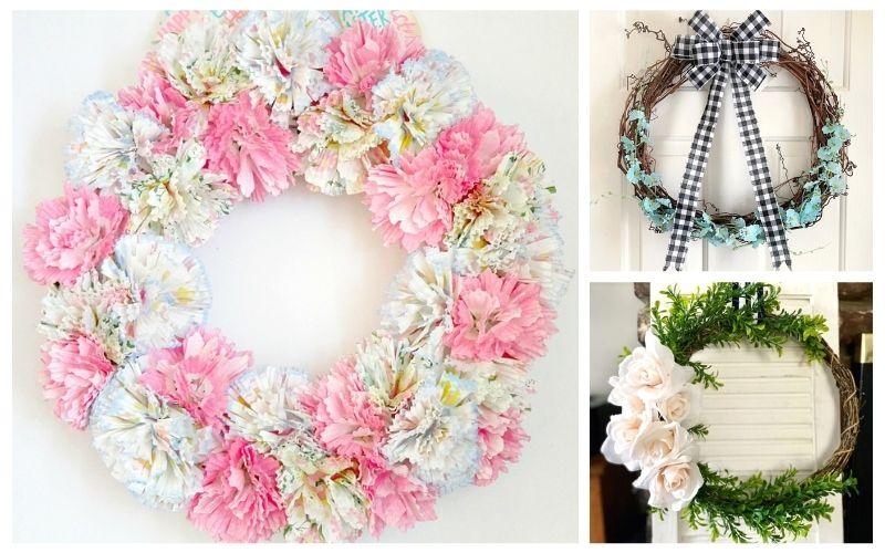 20 Beautiful Dollar Store DIY Spring Wreaths