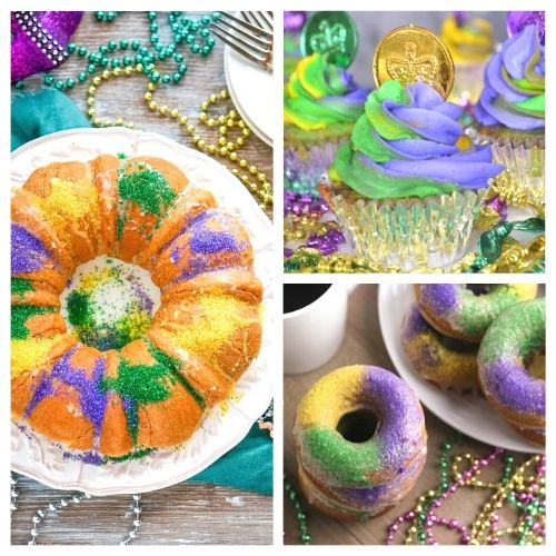 20 Festive Mardi Gras Dessert Recipes- Have a fun and festive Mardi Gras with some of these delicious Mardi Gras dessert recipes! They're so colorful, and so tasty! | #MardiGras #desserts #MardiGrasFood #MardiGrasRecipes #ACultivatedNest