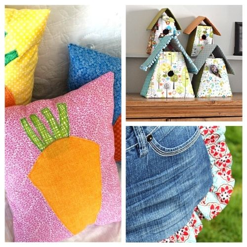 16 Fun Spring Sewing Projects- This spring, use your sewing skills to make something fun! These spring sewing projects are perfect for beginners and more experienced sewers! | #sewingProjects #sewing #springSewing #springCrafts #ACultivatedNest