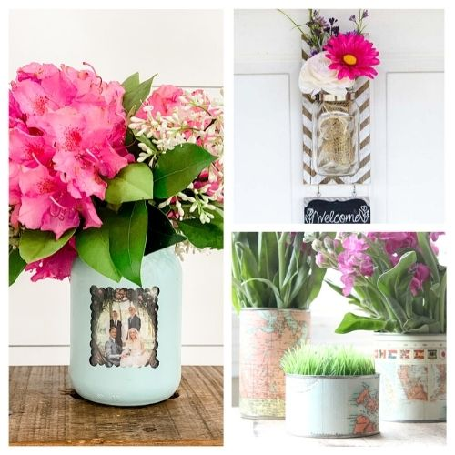 20 Gorgeous DIY Flower Vase Ideas- You don't want to miss these gorgeous DIY flower vase ideas! They're perfect décor for your home or office space! | #DIY #flowerVases #crafts #diyProjects #ACultivatedNest
