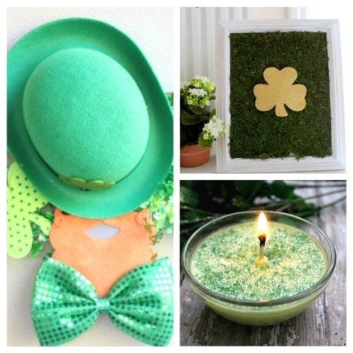 24 Fun St. Patrick's Day Crafts for Adults and Kids- Decorate your home for St. Paddy's Day on a budget this year with these 24 St. Patrick's Day crafts for adults and kids! | #StPatricksDay #SaintPatricksDay #crafts #diyProjects #ACultivatedNest