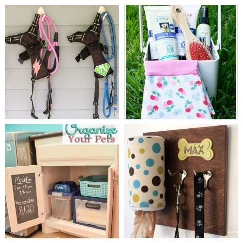 16 Brilliant Homemade Organizers for Your Pet- If you're tired of your furbaby's stuff being everywhere, then you need to check out these cute and clever DIY pet organizing solutions! | organize dog toys, organize cat treats, organize pet supplies, #organizingTips #pets #petOrganization #diyOrganizers #ACultivatedNest
