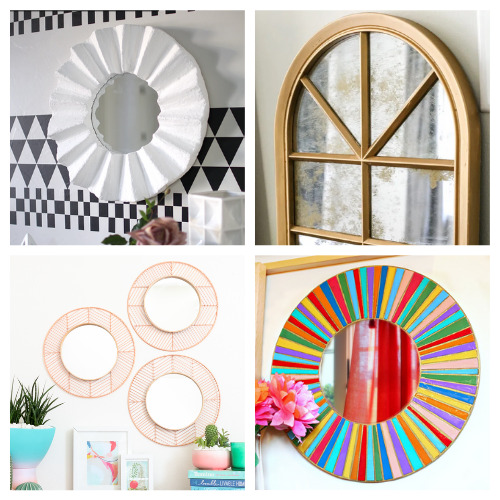 20 Fantastic DIY Frames for Mirrors- These 20 fantastic DIY mirror frame ideas are great for your bathroom, office, or any other space that could use a facelift! | #DIY #diyProjects #diyMirrors #diyDecor #ACultivatedNest