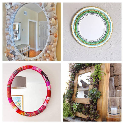 20 Fantastic Homemade Frames for Mirrors- These 20 fantastic DIY mirror frame ideas are great for your bathroom, office, or any other space that could use a facelift! | #DIY #diyProjects #diyMirrors #diyDecor #ACultivatedNest