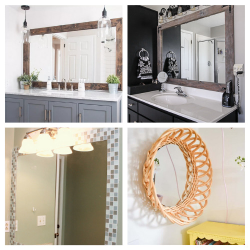 20 Fantastic DIY Mirror Projects- These 20 fantastic DIY mirror frame ideas are great for your bathroom, office, or any other space that could use a facelift! | #DIY #diyProjects #diyMirrors #diyDecor #ACultivatedNest