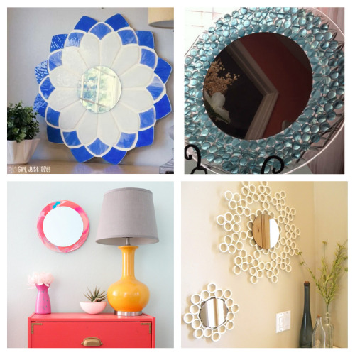 20 Fantastic Homemade Mirror Crafts- These 20 fantastic DIY mirror frame ideas are great for your bathroom, office, or any other space that could use a facelift! | #DIY #diyProjects #diyMirrors #diyDecor #ACultivatedNest