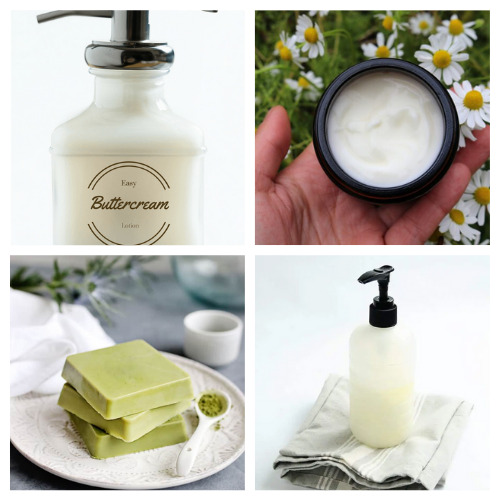 20 Luxurious Lotion and Lotion Bar Crafts- Learn how to make these 20 luxurious DIY lotions and lotion Bars! They make lovely gifts and help make your skin silky smooth! | #homemadeBeautyProducts #diyLotion #diyLotionBars #crafts #ACultivatedNest