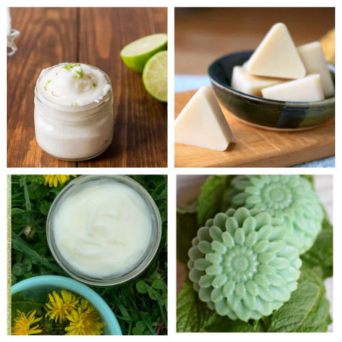 20 Luxurious Lotion and Lotion Bar DIY Gifts- Learn how to make these 20 luxurious DIY lotions and lotion Bars! They make lovely gifts and help make your skin silky smooth! | #homemadeBeautyProducts #diyLotion #diyLotionBars #crafts #ACultivatedNest