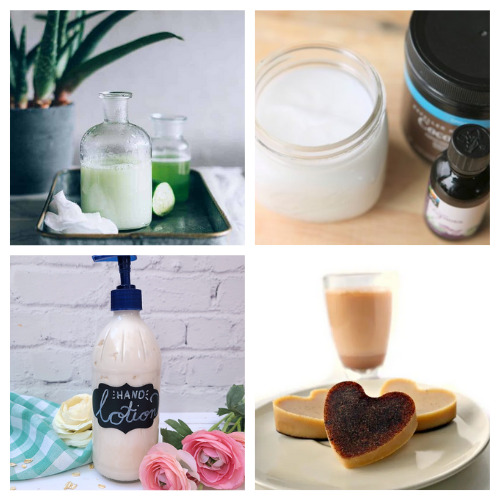 20 Luxurious Homemade Lotions and Lotion Bars- Learn how to make these 20 luxurious DIY lotions and lotion Bars! They make lovely gifts and help make your skin silky smooth! | #homemadeBeautyProducts #diyLotion #diyLotionBars #crafts #ACultivatedNest